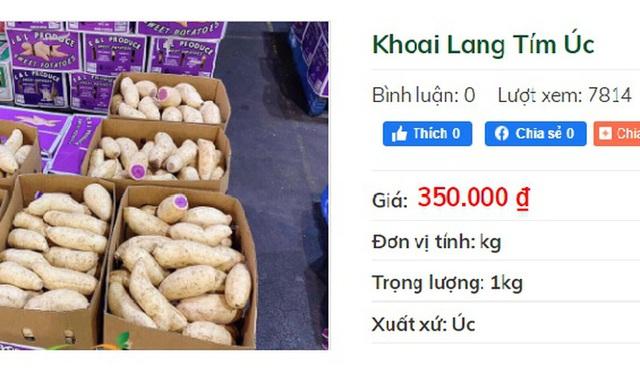 Khuyến mãi sâu, khoai lang tím Úc vẫn có giá 100.000 đồng/kg  - Ảnh 1.