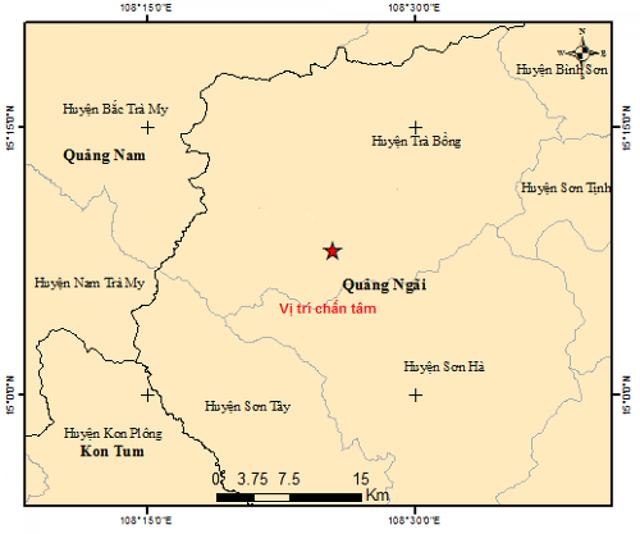 Liên tiếp xảy ra 2 trận động đất tại Quảng Ngãi  - Ảnh 1.