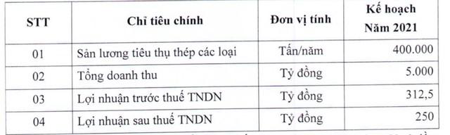 Thép Tiến Lên (TLH): Lãi lớn ngay quý 1, trình kế hoạch lãi 250 tỷ đồng năm 2021 - Ảnh 1.