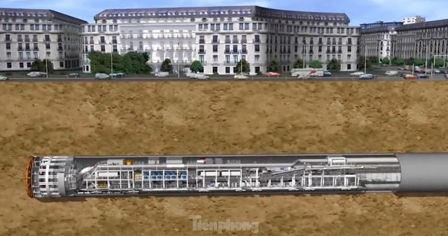 Cận cảnh rô-bốt đào hầm metro vận hành trong lòng đất  - Ảnh 11.