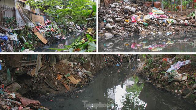 Cận cảnh những dòng sông đen chảy giữa nội thành Hà Nội  - Ảnh 16.