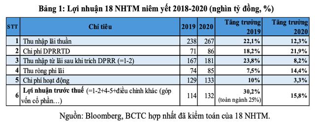 Chuyên gia: Cần nhìn nhận bức tranh lợi nhuận ngân hàng 2020 và 2021 một cách toàn diện, đầy đủ hơn - Ảnh 1.