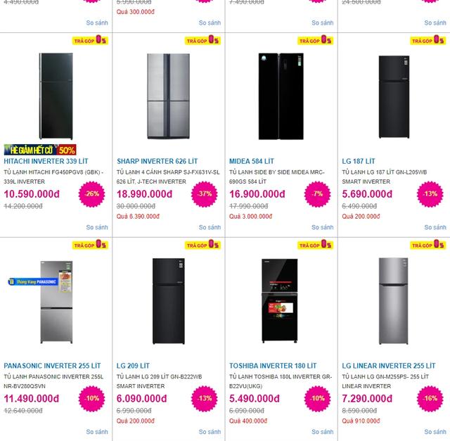 Điều hòa giảm giá sốc hơn 40%, tủ lạnh đồng loạt giảm sâu - Ảnh 2.