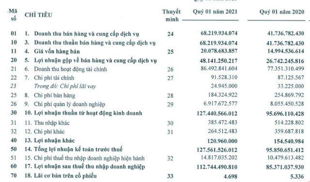 Nam Tân Uyên (NTC): Quý 1 lãi 113 tỷ đồng tăng 32% so với cùng kỳ - Ảnh 1.