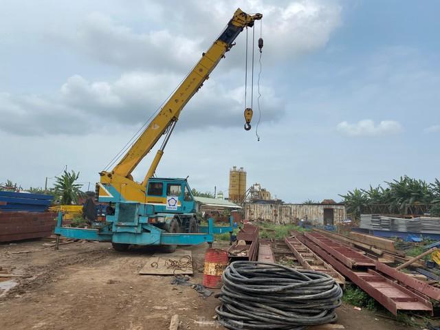 Toàn cảnh công trường xây dựng cầu vượt sông gần 2.000 tỷ đồng ở Bắc Ninh  - Ảnh 7.