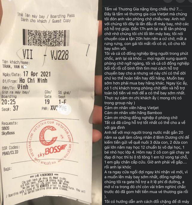 Xôn xao chuyện người đàn ông khóc đẫm nước mắt xin đổi chuyến bay, biết được lý do đặc biệt khiến loạt hành khách lẫn nhân viên các hãng bay đều cùng giúp đỡ - Ảnh 2.