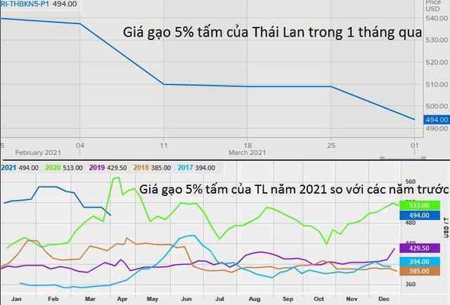 Giá gạo Việt Nam giảm, gạo Thái Lan thấp nhất hơn 4 tháng để cạnh tranh với Ấn Độ - Ảnh 2.