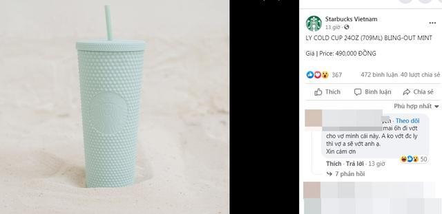 Choáng: Người Sài Gòn 6h sáng xếp hàng dài trước cổng Starbucks để săn chiếc ly màu xanh với giá 500k, sau 4 tiếng bán lại đã TĂNG GIÁ GẤP 4 LẦN! - Ảnh 1.