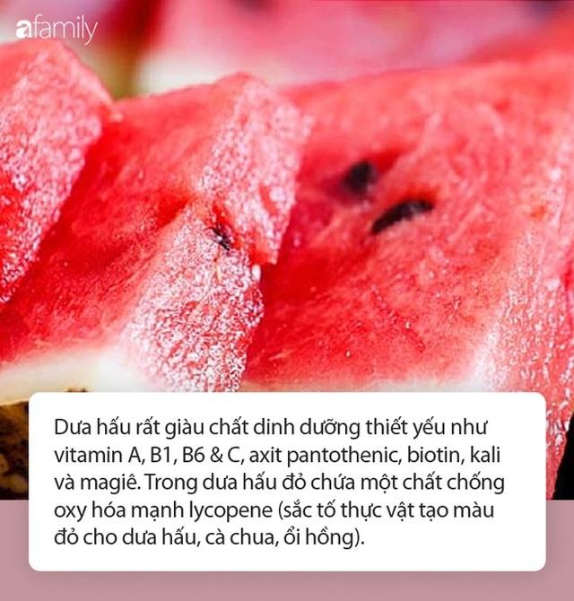 """Vào hè, ăn dưa hấu: Không chỉ ngon mà còn là """"nhà máy"""" chứa nhiều chất dinh dưỡng và làm thuốc chữa bệnh siêu hay - Ảnh 3."""