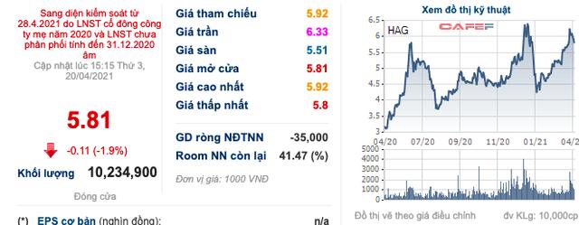 Hoàng Anh Gia Lai (HAG): Cổ phiếu bị đưa vào diện kiểm soát từ ngày 28/4, chỉ được giao dịch phiên chiều - Ảnh 1.