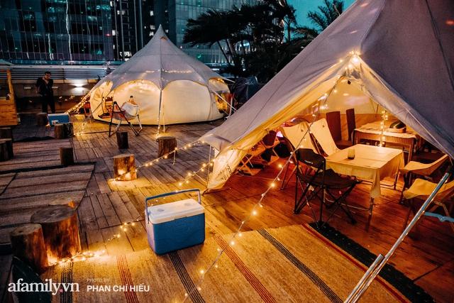 Siêu Hot: Glamping - Cắm trại xa xỉ trên nóc tòa nhà cao nhất Hà Nội, một khung cảnh cam kết đẹp hơn cả trên phim với loạt trải nghiệm siêu thú vị cho cả gia đình - Ảnh 16.