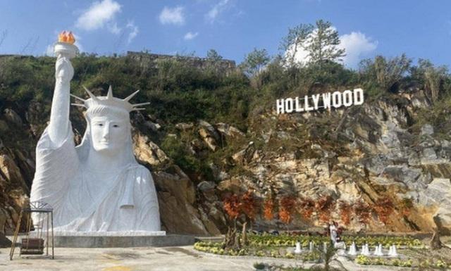 Yêu cầu dừng thi công tượng Nữ thần tự do gây tranh cãi ở Sa Pa  - Ảnh 1.