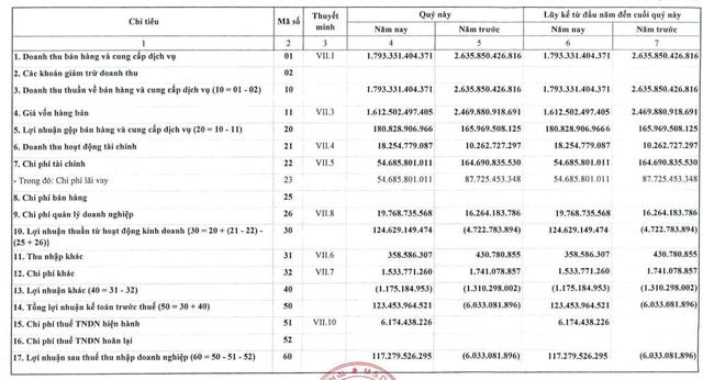 Nhiệt điện Quảng Ninh (QTP): Doanh thu giảm sâu, vẫn có lãi hơn 117 tỷ đồng trong quý 1 - Ảnh 1.