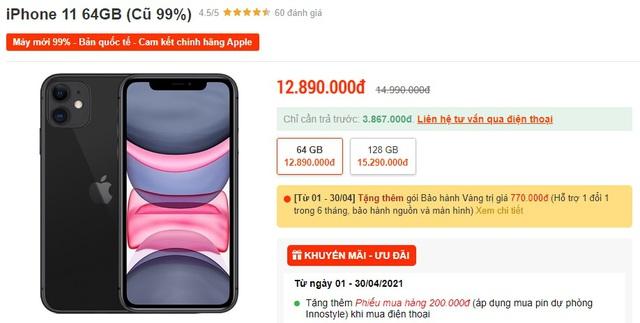 iPhone 11, XS Max cũ giá mềm được săn đón tại Việt Nam - Ảnh 1.