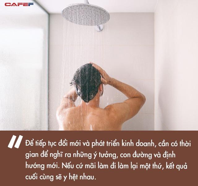 Mỗi doanh nhân nên tắm 8 tiếng/tuần để tăng cường sáng tạo: Lời khuyên nghe lạ lùng nhưng hợp lý đến không ngờ - Ảnh 1.