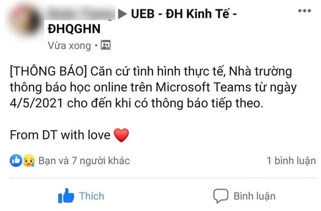 Trước tình hình dịch Covid-19, 2 trường đại học đầu tiên ở Hà Nội thông báo cho sinh viên học trực tuyến - Ảnh 2.