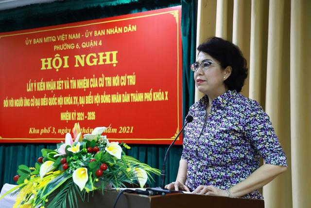 100% cử tri nhất trí giới thiệu bà Tô Thị Bích Châu ứng cử ĐBQH và HĐND TP HCM  - Ảnh 1.
