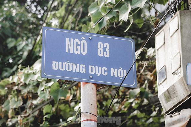 Hà Nội phong toả ngõ 83 đường Dục Nội - nơi ở của ca bệnh số 2.911  - Ảnh 1.