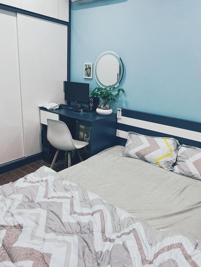 Làm gì để không gian căn chung cư nhỏ thoáng đãng mà vẫn đủ công năng cho gia đình có trẻ nhỏ? Cách bài trí của nhà thiết kế trẻ nhận mưa lời khen vì quá hợp lý - Ảnh 9.
