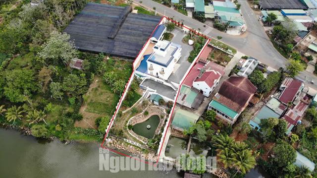 Buộc cưỡng chế tháo dỡ biệt thự khủng không phép ở TP Bảo Lộc  - Ảnh 1.
