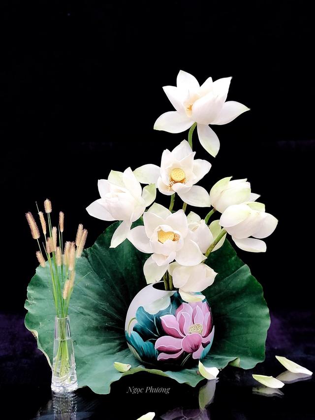 Mê mẩn hương hoa, mẹ đảm Hà Nội kỳ công đặt mua loài sen Đế Vương tận xứ Huế và tiết lộ bí kíp chơi hoa bền đẹp - Ảnh 2.