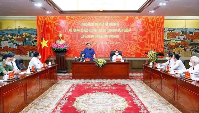 Chủ tịch Quốc hội Vương Đình Huệ: Không để nơi bầu cử thành nơi lây nhiễm dịch  - Ảnh 3.