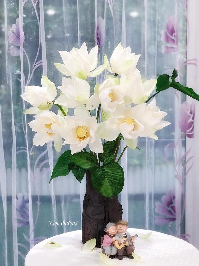 Mê mẩn hương hoa, mẹ đảm Hà Nội kỳ công đặt mua loài sen Đế Vương tận xứ Huế và tiết lộ bí kíp chơi hoa bền đẹp - Ảnh 9.