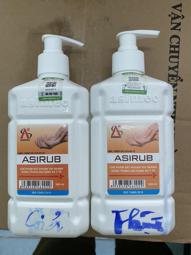 Phát hiện lô hàng nước sát khuẩn tay có dấu hiệu giả mạo sản phẩm ASIRUB  - Ảnh 2.