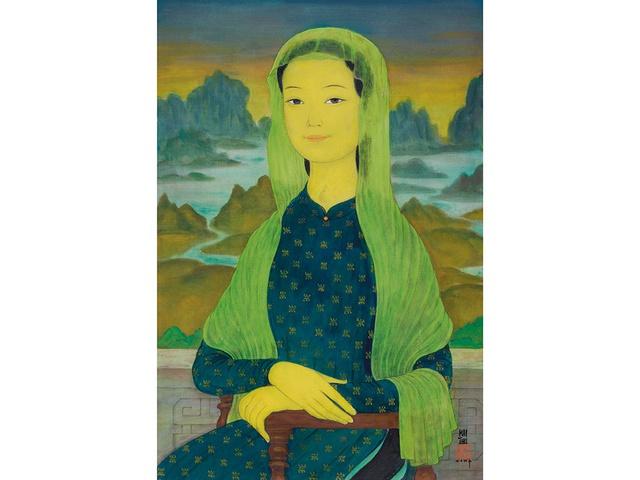 Bức tranh nàng Mona Lisa của họa sĩ người Việt sắp được đấu giá tại Hong Kong, dự đoán đạt 1,2 triệu USD - Ảnh 1.