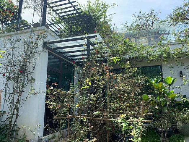 Khám phá căn biệt phủ ngoại ô của con gái PGS Văn Như Cương: Xây trên quả đồi rộng 200 m2, view cánh đồng rộng mênh mông, bên cạnh có suối chảy róc rách - Ảnh 5.
