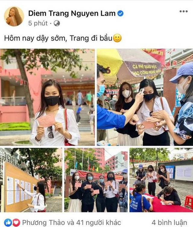 Sao Việt nô nức đi bầu cử: Tiểu Vy, Huyền My dậy sớm cùng dàn hậu bỏ phiếu, Khánh Vân từ Mỹ cũng hào hứng hưởng ứng - Ảnh 9.