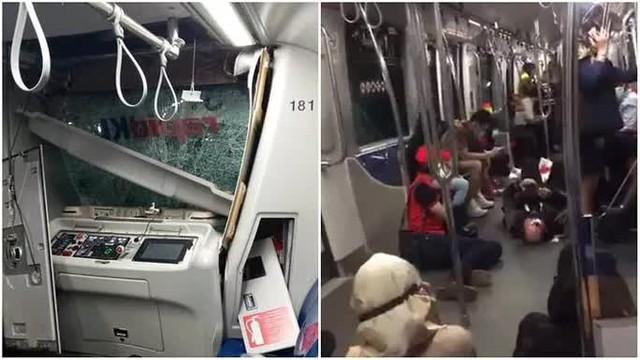 Malaysia: Hai đoàn tàu tông thẳng nhau trong đường hầm - Ảnh 1.