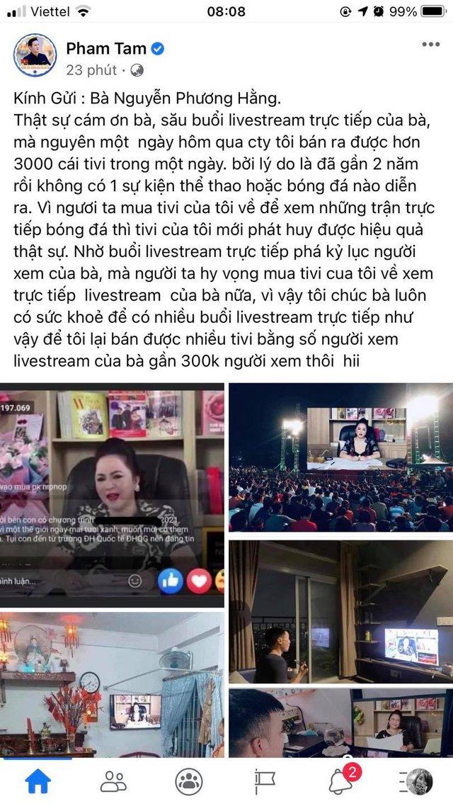 Sau buổi livestream phá kỷ lục của bà Nguyễn Phương Hằng, CEO Asanzo Phạm Văn Tam công bố tiêu thụ được đến 3.000 tivi chỉ trong 1 ngày - Ảnh 1.