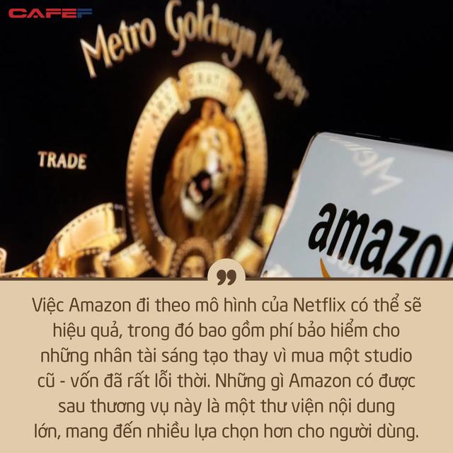 Chi gần 8,5 tỷ USD, liệu MGM có trở thành tấm vé vàng giúp Amazon thống trị Hollywood? - Ảnh 2.