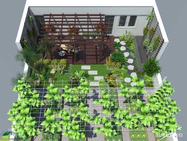Vườn rau quả sạch 100m² trên mái nhà của mẹ 3 con ở Hà Nội - Ảnh 1.