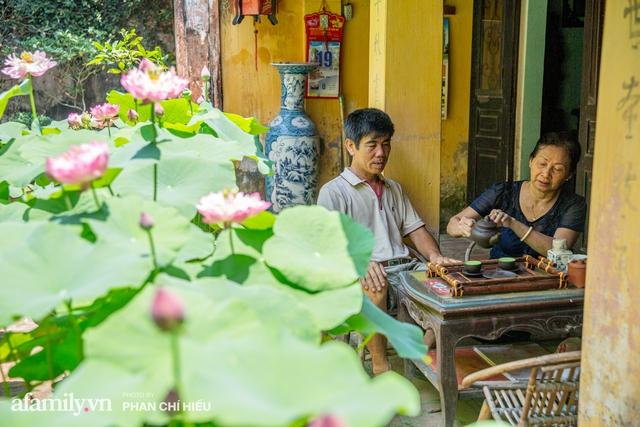 Đôi vợ chồng sở hữu căn nhà cổ 100 năm tuổi tại Hà Nội, sưu tập hàng trăm gốc sen cung đình Huế quanh nhà, ai đi qua cũng phải trầm trồ - Ảnh 13.