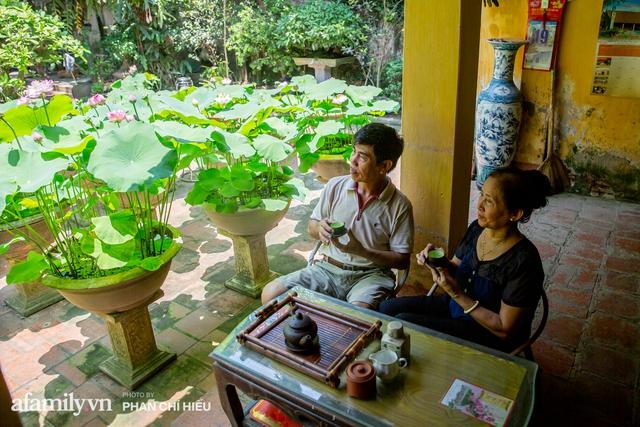 Đôi vợ chồng sở hữu căn nhà cổ 100 năm tuổi tại Hà Nội, sưu tập hàng trăm gốc sen cung đình Huế quanh nhà, ai đi qua cũng phải trầm trồ - Ảnh 14.