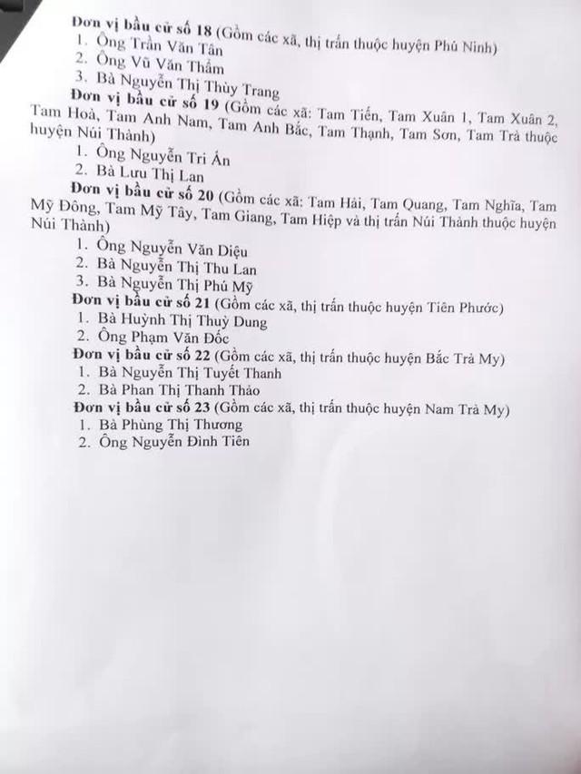Quảng Nam công bố danh sách 57 người trúng cử đại biểu HĐND tỉnh  - Ảnh 3.