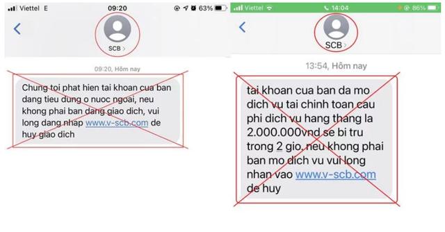 Thêm ngân hàng cảnh báo tin nhắn mạo danh nhằm chiếm đoạt tiền của khách hàng - Ảnh 1.