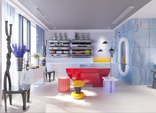 Ấn tượng với không gian căn penthouse duplex của NTK thời trang nổi tiếng: Một ngôi nhà mang năng lượng tích cực, vừa kích thích cảm giác tự do sáng tạo vừa có không gian riêng tư - Ảnh 6.