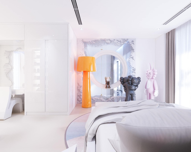 Ấn tượng với không gian căn penthouse duplex của NTK thời trang nổi tiếng: Một ngôi nhà mang năng lượng tích cực, vừa kích thích cảm giác tự do sáng tạo vừa có không gian riêng tư - Ảnh 12.