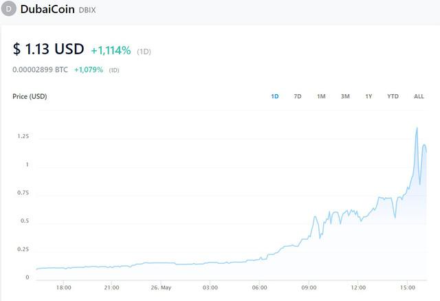 Một đồng tiền số tăng giá 1.000% trong 24 giờ - Ảnh 1.