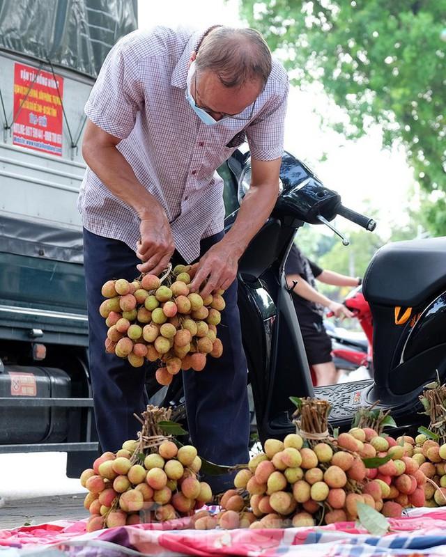 Vải thiều Bắc Giang được bán với giá 20.000 đồng/kg ở Thủ đô - Ảnh 8.