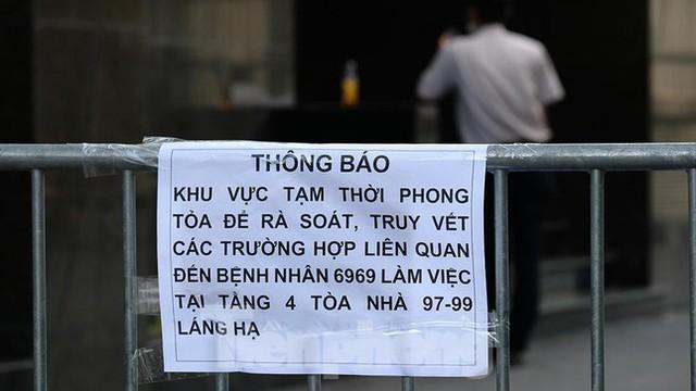 Phong tỏa tạm thời tòa nhà 97-99 Láng Hạ vì nữ nhân viên 9X dương tính với SARS-CoV-2  - Ảnh 5.