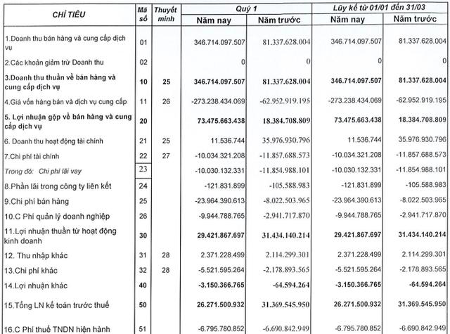 Quốc Cường Gia Lai (QCG): Doanh thu đột biến nhờ bàn giao dự án, lãi ròng vẫn giảm mạnh 43% trong quý 1/2021 - Ảnh 1.