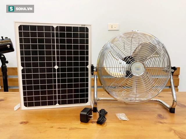 300.000 đồng chiếc quạt năng lượng mặt trời, hàng thần thánh tiết kiệm điện ngày hè? - Ảnh 2.