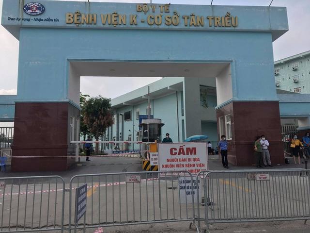 Thứ trưởng Bộ Y tế thông tin chi tiết ca F0 đầu tiên lây Covid-19 cho 9 ca khác ở Bệnh viện K Tân Triều - Ảnh 3.