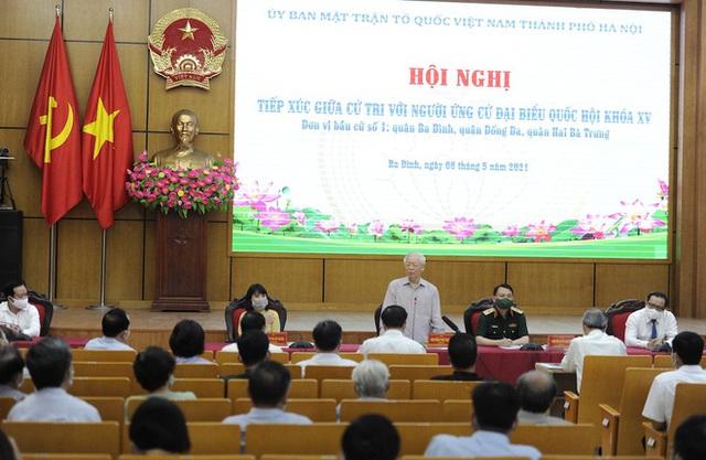 Tổng Bí thư Nguyễn Phú Trọng: Nếu trúng cử đại biểu Quốc hội thì rất vinh dự, tôi cố gắng làm hết sức mình - Ảnh 1.