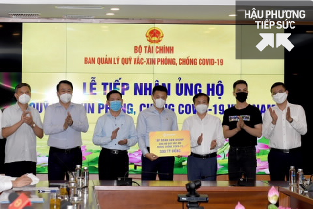 Vừa xây Trung tâm hồi sức tích cực cho Bắc Giang, Sungroup và công ty con ủng hộ Quỹ vắc xin 320 tỷ đồng, Vietlot, Kho bạc Nhà nước, DATC ủng hộ gần 6,5 tỷ - Ảnh 1.