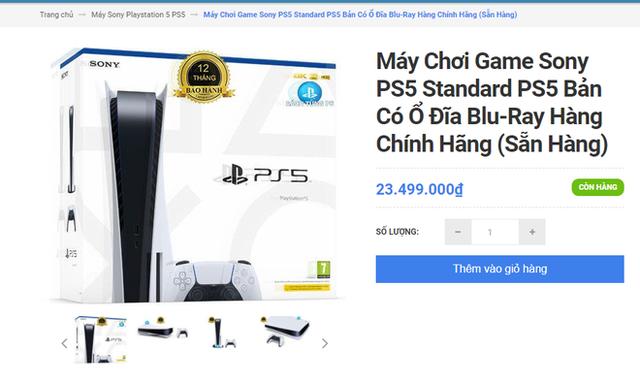 Khó như mua PS5 chính hãng tại VN: Đắt hơn giá Sony niêm yết tới 9 triệu, thà mua hàng xách tay còn hơn! - Ảnh 1.